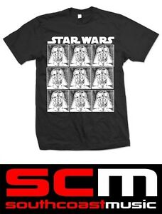 LARGE STAR WARS STWATS10MB DARTH VADER REPEAT L T SHIRT BLACK TEE OFFICIAL
