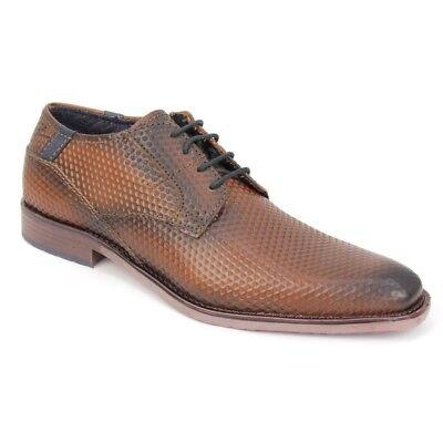 Bugatti Herren Schuhe Schnürschuhe Cognac braun 311 29705 1200 6300 | eBay