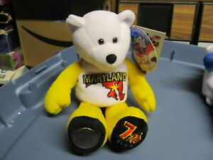 50-State-Club-Bean-Bag-Bear-Maryland-with-coin-NEW-With-Tag