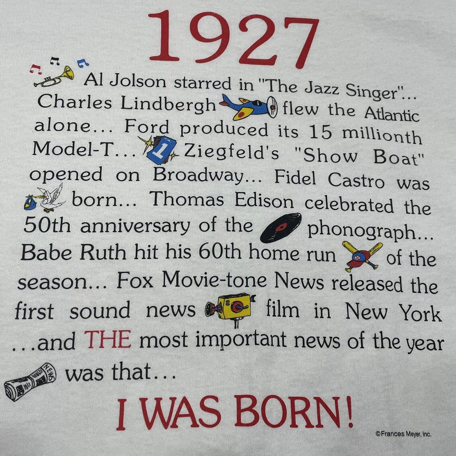 Vintage 90s 1927 Year I Was Born History Single S… - image 6