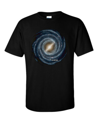 Not Just Nerds Milky Way Galaxy You Are Here  Astronomy Space T-Shirt