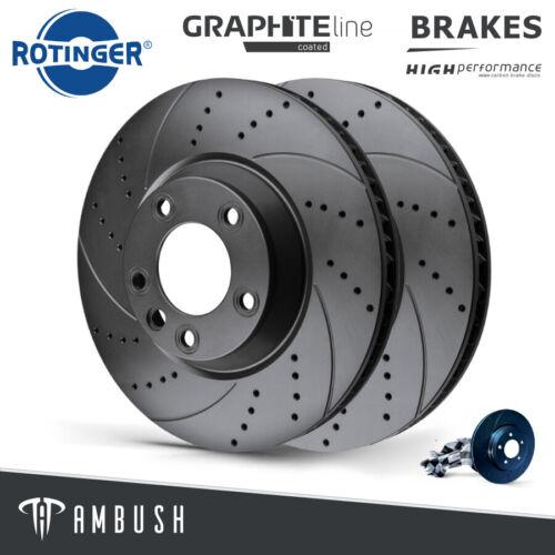 Porsche Cayenne VW Touareg Drilled /& Grooved Brake Discs Rear 330mm Upgrade