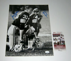 PACKERS-Donny-Anderson-amp-Jim-Grabowski-signed-11x14-photo-JSA-AUTO-Autographed