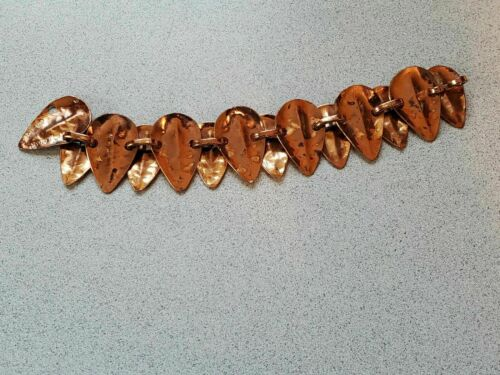 Hammered Copper Bracelet Winifred Mason Chenet d'H