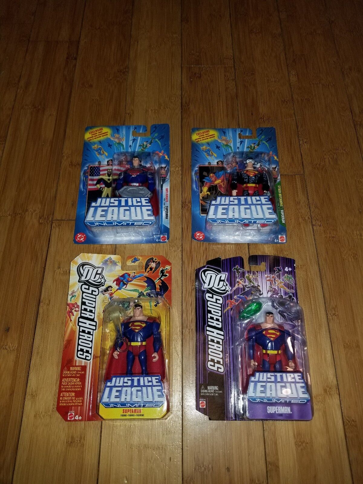 DC Universe justice league unlimited SUPERMAN Fan Collection LOT OF 4 1M