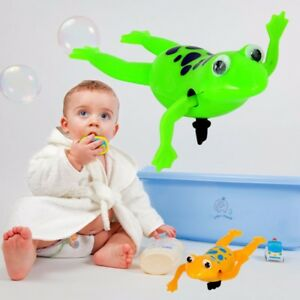 Details about Wind up Swimming Cute Frog Toy Clockwork Stop Crying Baby  Kids Bath Toys Hot