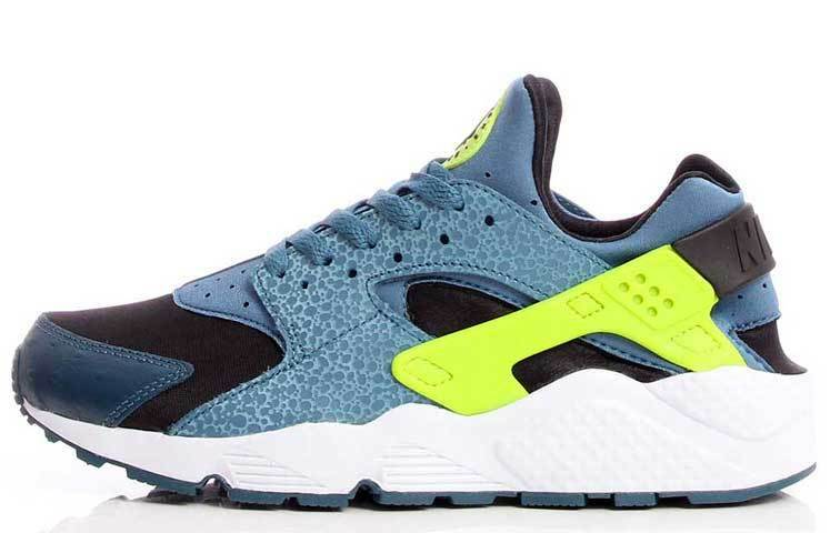 Nike Homme Air Huarache Space Bleu and Volt Trainer 318429 043