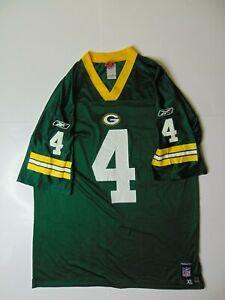 Reebok-Men-XL-NFL-Players-Green-Bay-Packers-Jersey-Brett-Favre-Football-Vintage