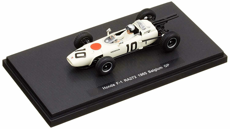 Modelo De Coche Ebbro Honda RA272 1965 Bélgica GP No.10 blancoo 1 43 japonés Racing