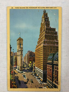 Vintage Times Square and Paramount Building New York City ...