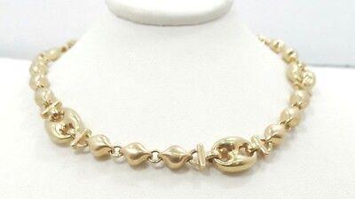 Ausdrucksvoll Hinreißend 14k Gelbgold 8 Zoll 10.6mm Puffy Halskette A195 Moderate Kosten