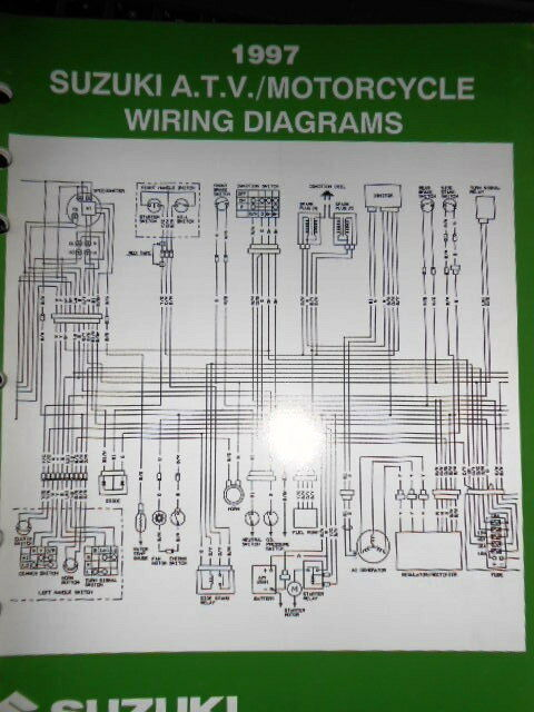 Suzuki Factory Wire Diagram Atv Motorcycle 1997