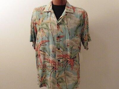 Ordentlich Hemd Hawaiian Lauhala Liberty House Crepe Vintage 1950 Usa T. Breit
