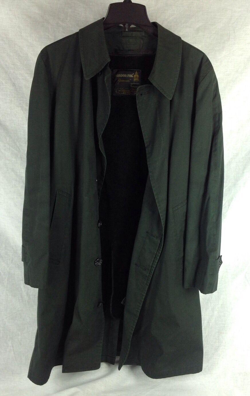 LONDON FOG MAINCOATS mens green coat size 40 REG