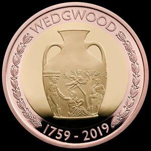 Wedgwood 260th Anniversary UK £2 Brilliant  Coin.