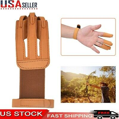 2 Finger Cow Leather Guards Protective Gear Bow Fingertabs Archery Shooting