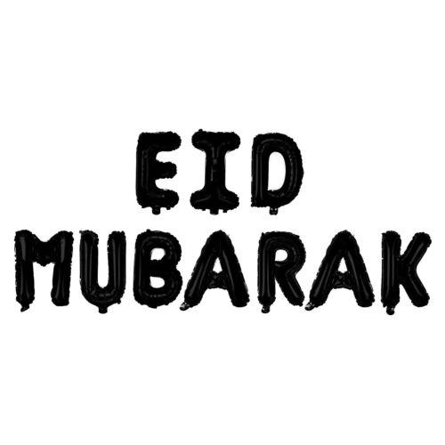 Islam Happy Eid Mubarak Ramadan Foil Balloon Decorations Gold Silver Balloons
