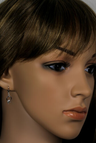 VASCAYA Damen Kinder Ohrhänger Ohrring Kreis groß Pferde Kopf Silber925 Geschenk