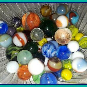 Beautiful Antique Glass Marbles Lot Vintage Peltier Akro Agate Christensen Mini
