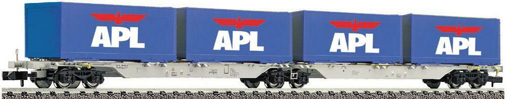 Fleischmann N 825316 Double Container Wagons AAE APL EP 5 NEW OVP