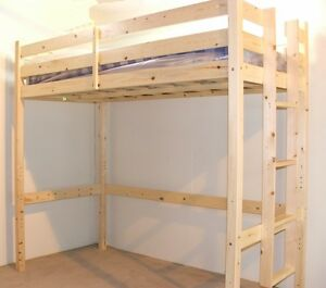 Heavy Duty Solid Pine High Sleeper Bunk Bed 3ft Single Eb15 Ebay