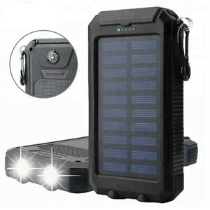 Solar Power Bank with Battery 12000 mAh Recharge Two Phones at The Same Time