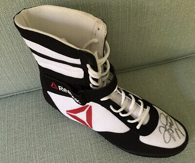Denso Consulado agua  Floyd Mayweather signed Reebok boxing shoe boot Conor TMT | eBay