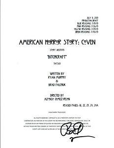 Bradley-Buecker-Signed-AMERICAN-HORROR-STORY-COVEN-Script-Director-Producer-COA
