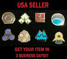 Cosplay Pokemon Go Sinnoh League Gym Badges Set Of 8 Metal Pins Gen 4 Brooch