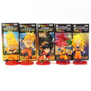 5-Pcs-Set-Dragon-Ball-Super-Schlacht-von-Saiyans-Son-Goku-PVC-Figur-Modell-Spielzeug