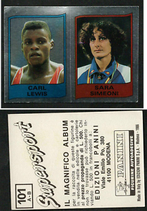 Carl-Lewis-USA-Panini-Athletics-CARD-1986-n-101-MINT-w-Sara-Simeoni