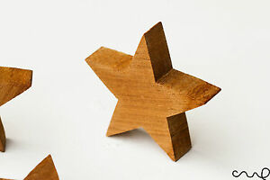 NEW-Handmade-Hand-Cut-Free-Standing-Solid-Timber-Wooden-Star-DIY-Thick-Stars-VAT