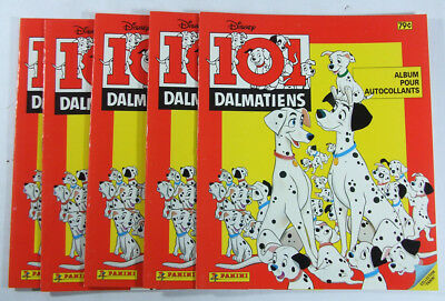 5 1990 Panini Walt Disney/'s 101 Dalmatiens Sticker Album French Version Lot of