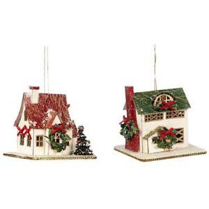 Casa-de-Navidad-2er-Set-7-5x7x7-5cm-Katherine-039-s-Coleccion-Decoracion