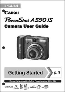 canon powershot a590 is digital camera user guide instruction manual rh ebay com canon a590 is manual pdf canon a590 is manual pdf