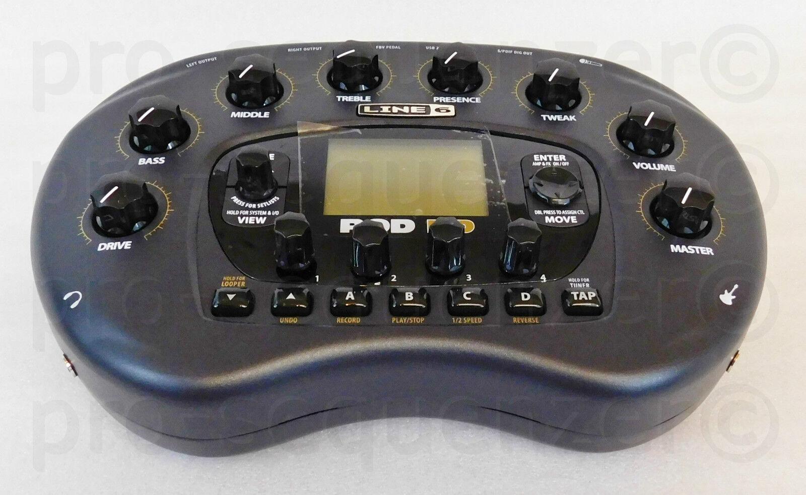 Line 6 pod + HD frijol riñón Guitar Modeling + como nuevo + pod embalaje original + 2 años de garantía cbd6d1