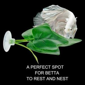 Artificial-Plant-Double-Leaf-Betta-Hammock-Fish-Rest-Decorati-Fast-Bed-Aqua-A3J7