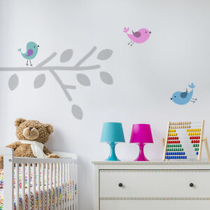 Details About Birds Branch Stencil Nursery Home Decor Wall Painting Art Craft Ideal Stencils