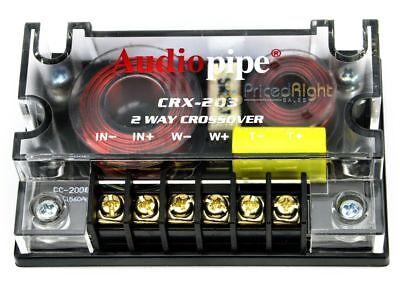 Audiopipe Passive 2 Way Car Audio Crossover / Two-Way Speaker and Tweeter 300 W