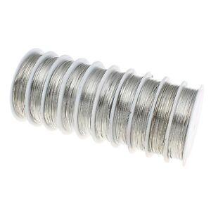 KUPFERDRAHT-0-5mm-Silber-5m-Lackdraht-Basteldraht-SCHMUCKDRAHT-DRAHT-C258