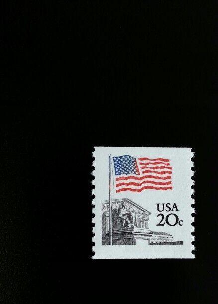 1981 20c Flag Over Supreme Court, Coil Scott 1895 Mint