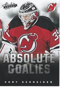 big sale 59fcf 5e23c Details about 2013-14 Panini Absolute Hockey Boxing Day CORY SCHNEIDER NHL  Goalies #14