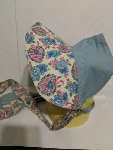 Vintage Hand Made Sun Bonnet Feed Sack Fabric