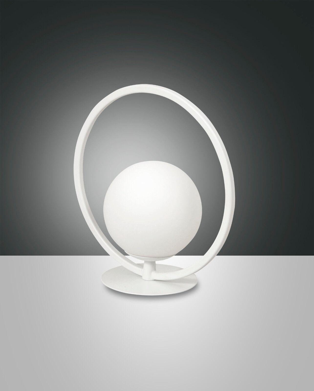 Design LED  Nacht Tisch Leuchte Lampe Sirio 1flg. Fabas Luce 3388-30-102 weiß