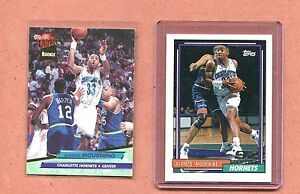ALONZO-MOURNING-HORNETS-1992-1993-TOPPS-amp-ULTRA-ROOKIE-BASKETBALL-CARD-LOT