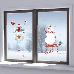 Fenstersticker Fensterfolie Fensterbild Fenster Deko Weihnachten