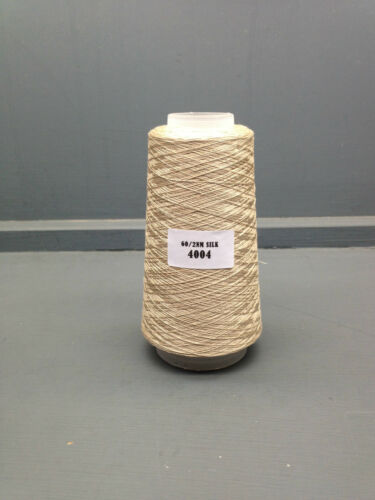 100G BEIGE COLOUR 260NM 100% FINE SILK YARN 4004