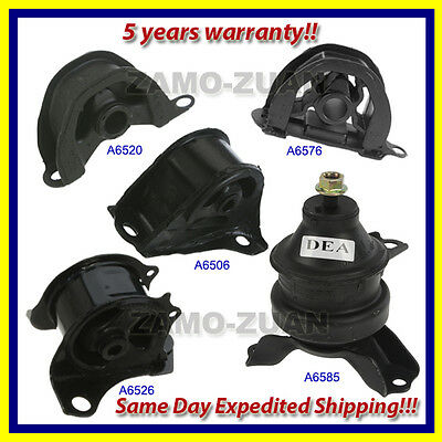 1997-2001 Honda CR-V 2.0L Engine Motor & Transmission Mount Set 5PCS. for Auto.