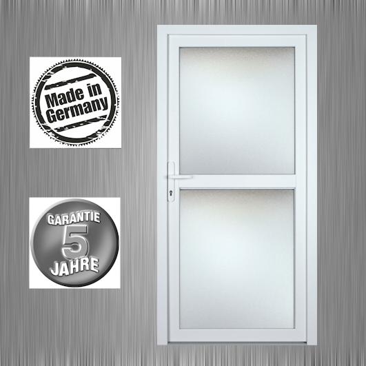 Nebeneingangstür Haustür Terrassentür Modell K628P weiß Maßanfertigung Klarglas