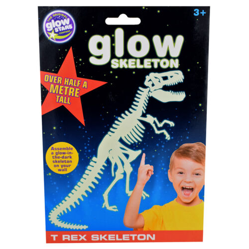 Glow In The Dark T REX Skeleton Decal  CHILD BEDROOM DECORATION Stocking Filler